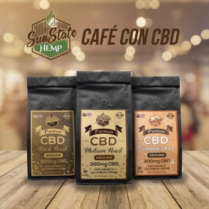 Café CBD Ground Coffee 300mg – Sun State Hemp